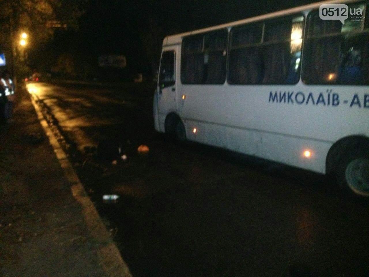 В Николаеве под колёсами автобуса погибли нарушители ПДД (фото)