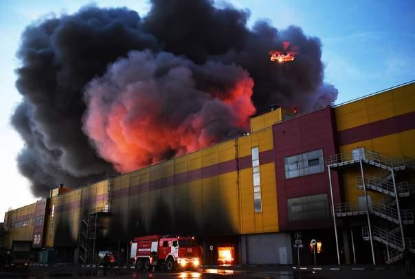 Шокирующие кадры масштабного пожара в Подмосковье (Фото)