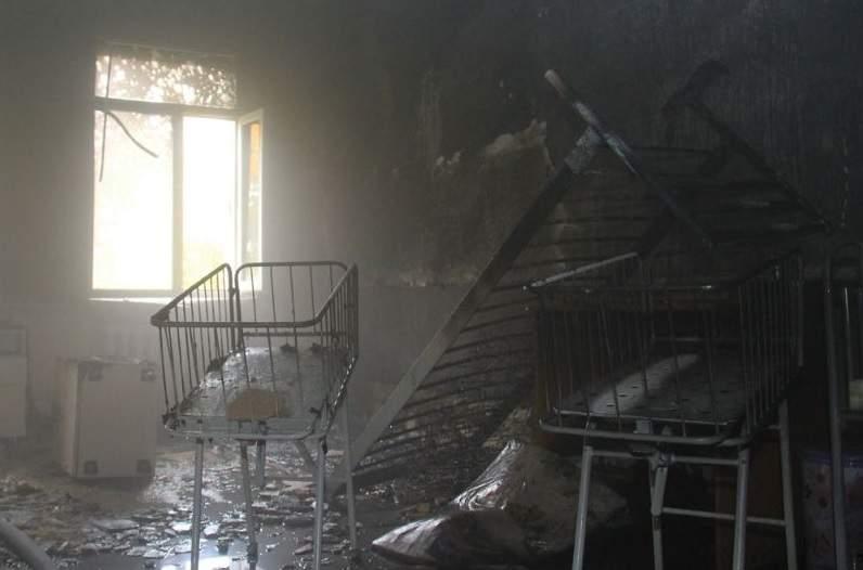 В Донецке горело родильное отделение в одной из больниц (фото)