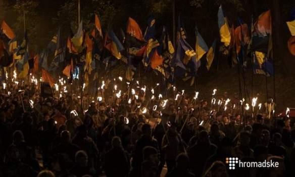 Марш Славы УПА в Киеве прошел без нарушений (Фото)