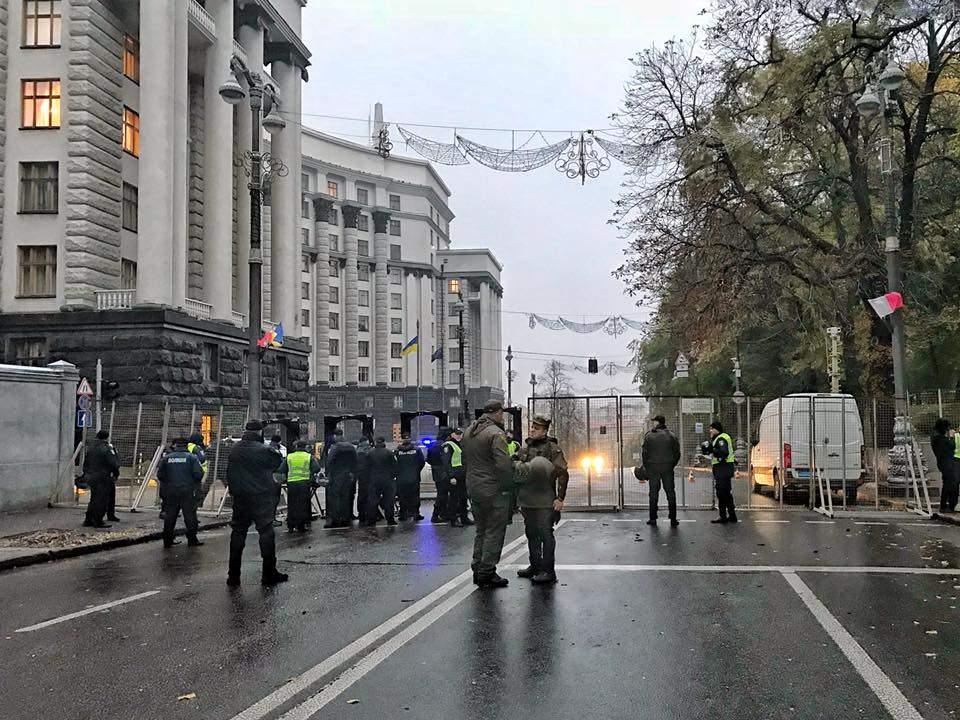 Центр столицы перекрыт. Раду окружили правоохранители