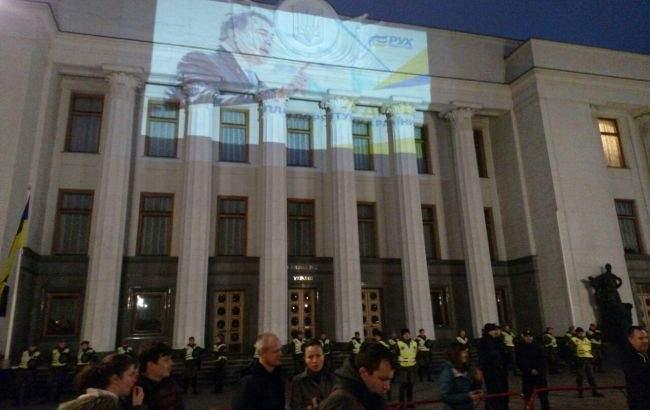 В Киеве в палаточном городке под Верховной Радой завершилось