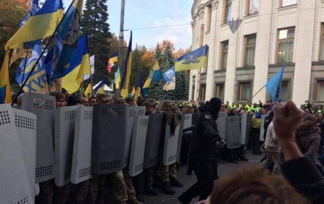 В Киеве силовики заблокировали звуковое оборудование для проведения