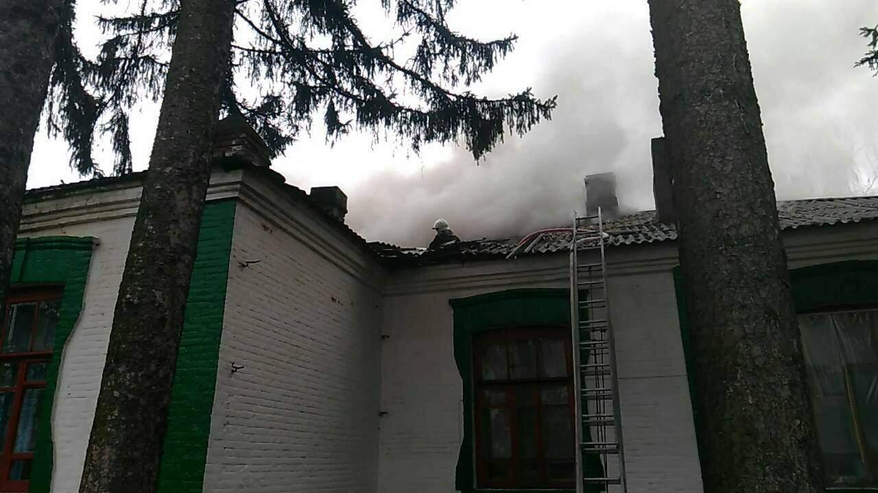 В Винницкой области горела школа (фото)