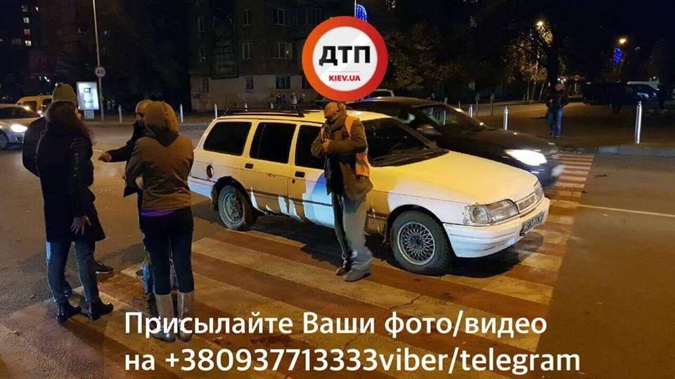 Под Киевом на пешеходном переходе пьяный водитель наехал на ребенка (фото)