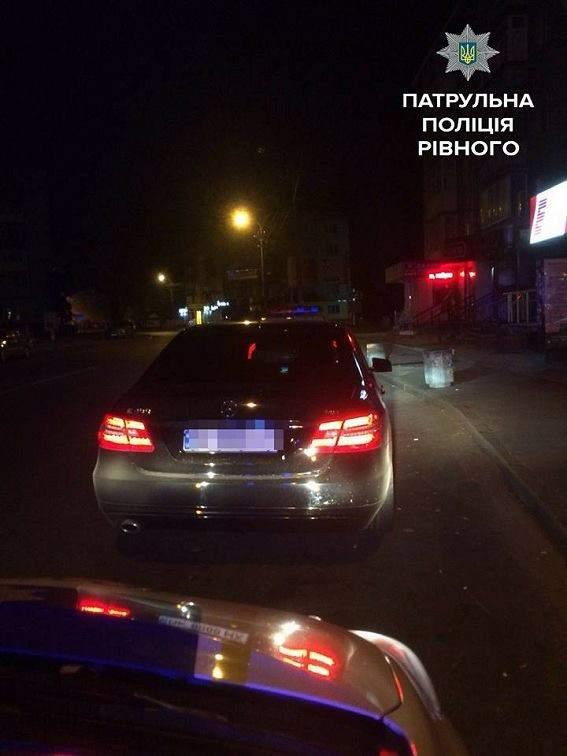 В Ровно пьяный водитель пытался выдать себя за пассажира (Фото)