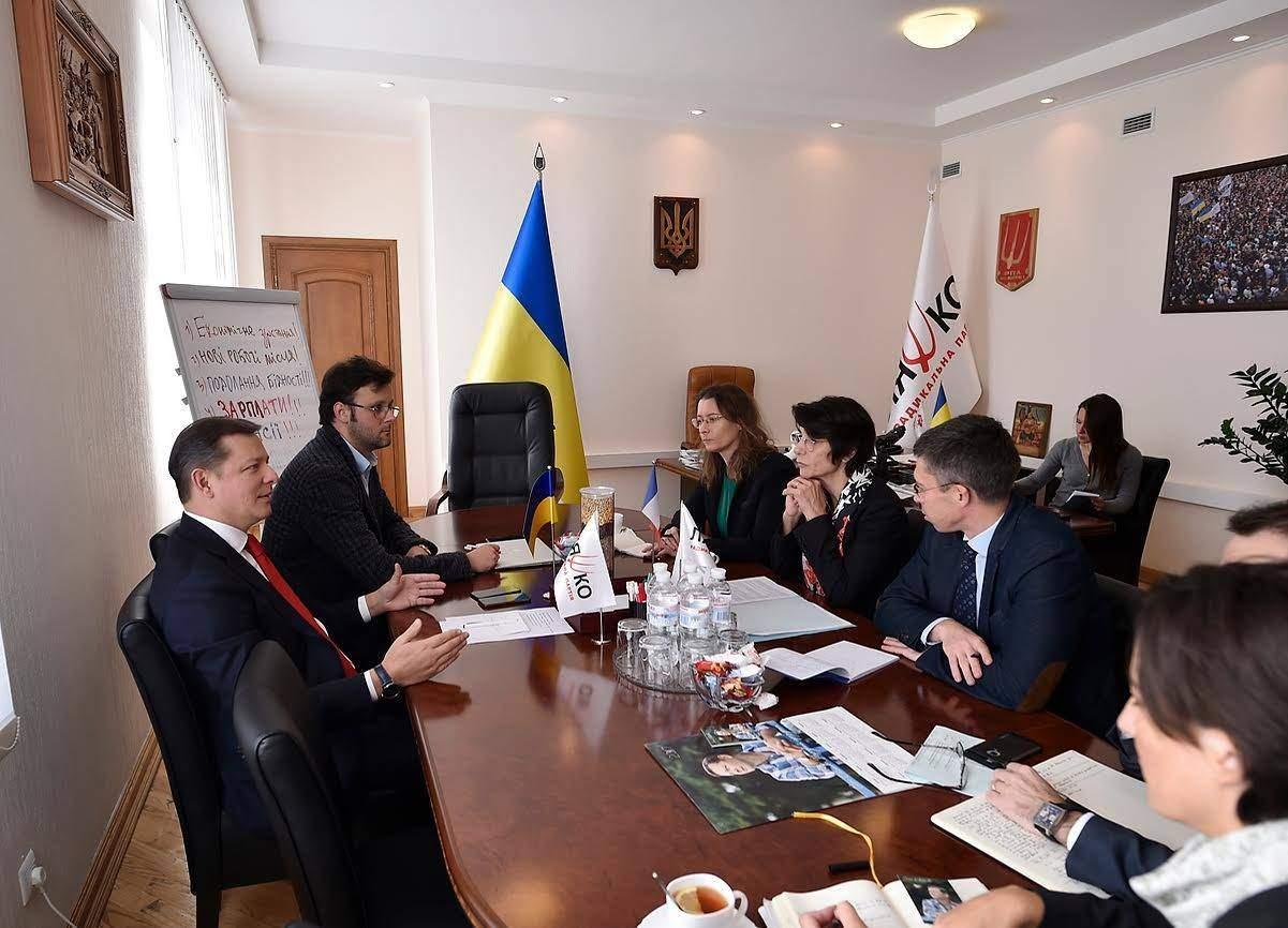 Лидер «Радикальной партии» провел деловую встречу с делегатами от Франции (фото)