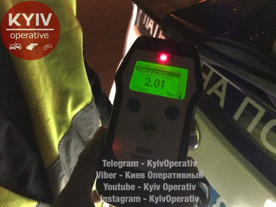 В столице нетрезвый угонщик авто пытался сбежать от полиции (Видео)