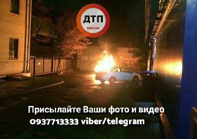 В Киеве взорвалось авто (Фото)