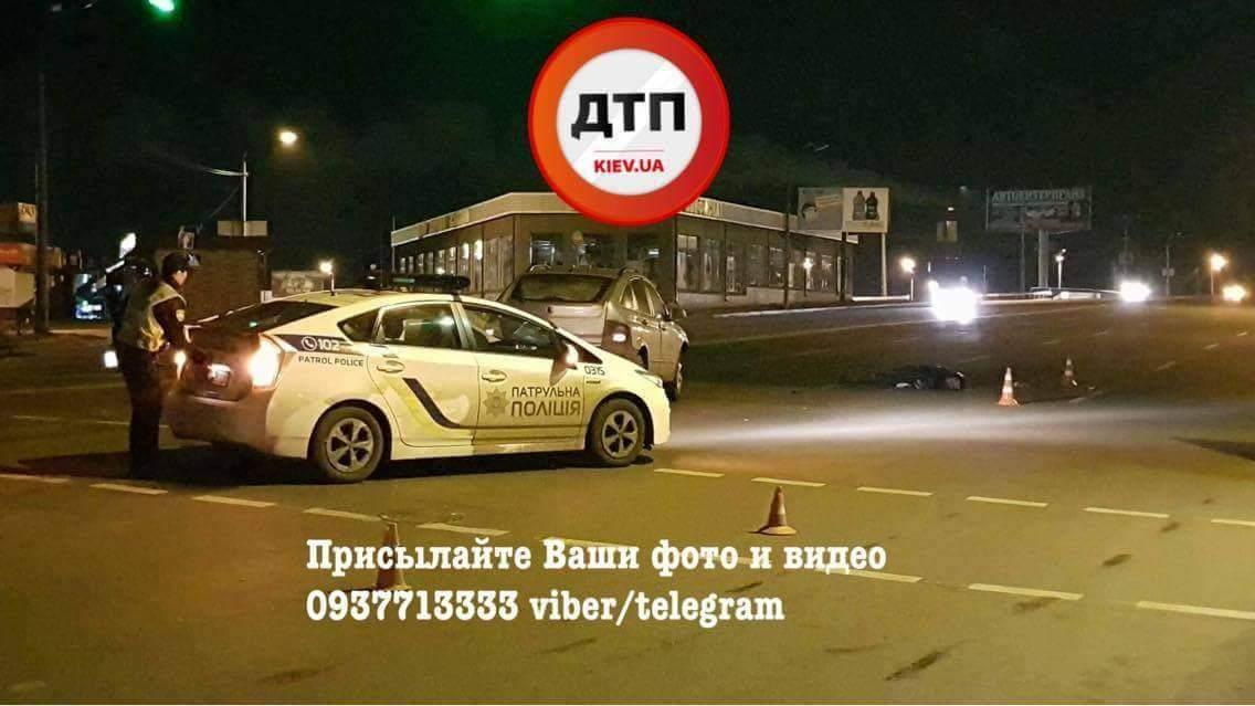 В Киеве под колёсами автомобиля погиб пешеход-нарушитель (фото)