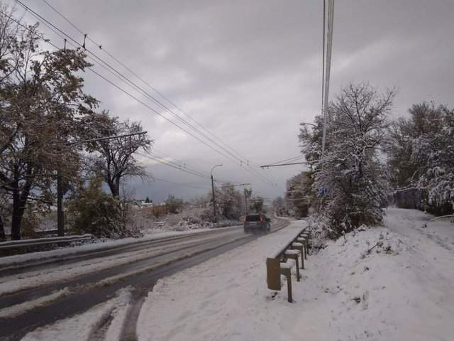 В Крыму разбушевалась непогода (Видео)