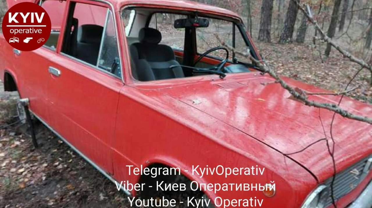 В Киеве во время прогулки девушка обнаружила свой автомобиль в разобранном виде (фото)