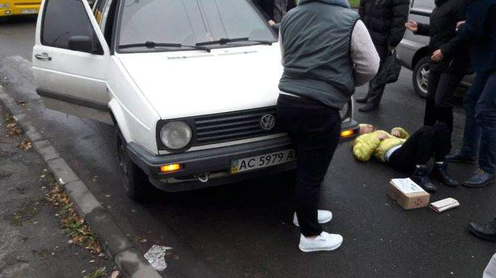 В Луцке водитель совершил наезд на 10-летнюю школьницу (фото)