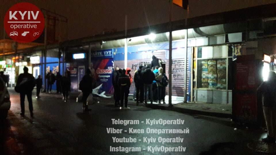 В Киеве произошло нападение на развлекательное заведение (фото)