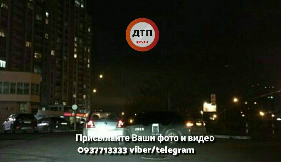 Столичный таксист Uber попал в ДТП (Фото)