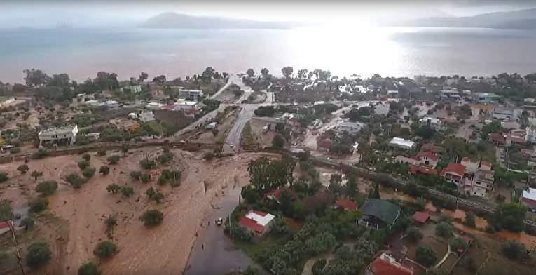 В Греции траур из-за гибели людей в результате масштабного наводнения