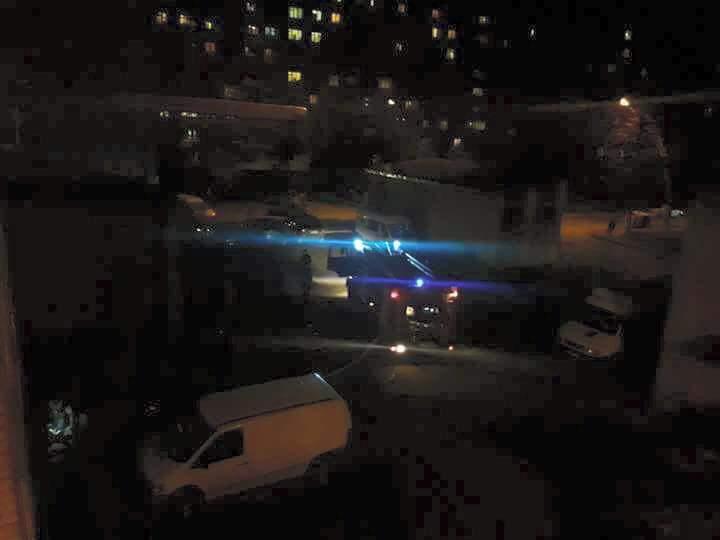 Во Львове бездомные устроили пожар (Фото)