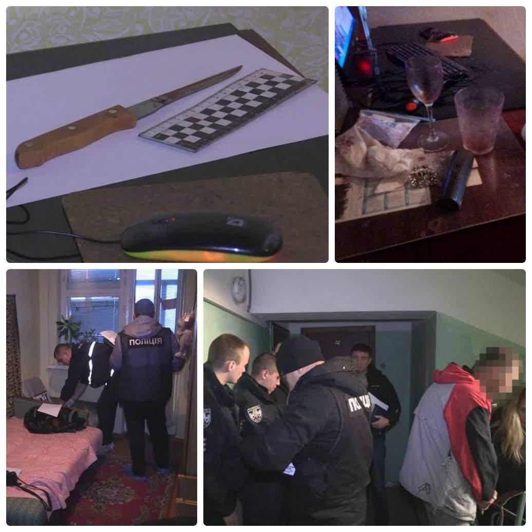 Юную киевлянку обнаружили в квартире с ножом в груди (Фото)