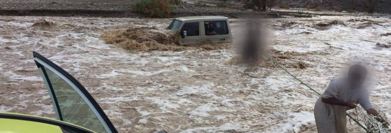 В Саудовской Аравии часть города ушла под воду из-за обильных осадков (фото)