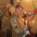 В воинской части перед отбытием в АТО обвенчались двое десантников (Фото)
