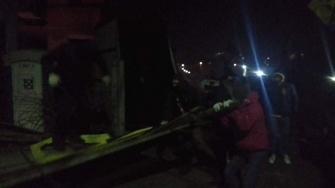 Взрыв в столице: Местные жители атаковали стройплощадку (Фото)