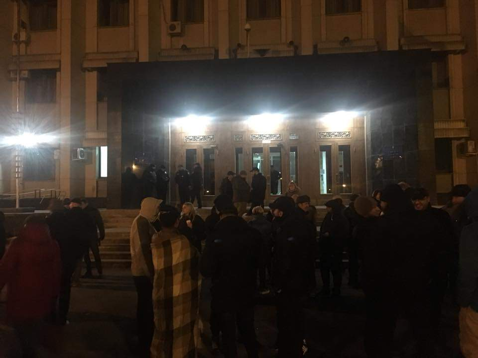 В Одессе активисты устроили бессрочную акцию протеста и потребовали освободить Стерненко и Ганула (фото)