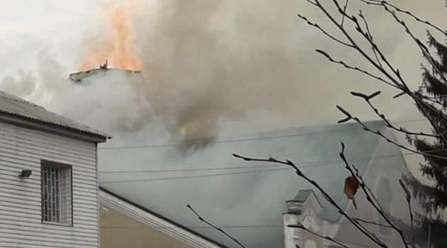На Сумщине пылала церковь (Фото)