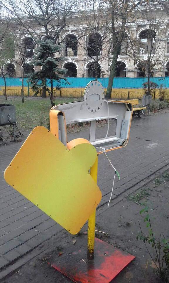 Вандализм в Киеве: Неизвестные уничтожили