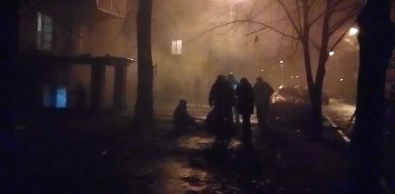 В Харькове в подвале жилого дома произошёл пожар (видео)