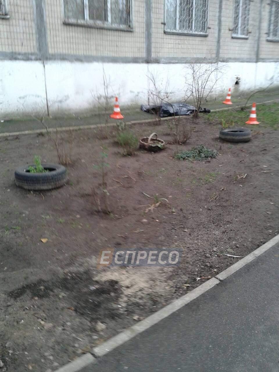 В Киеве пенсионер разбился при падении с высоты (фото)