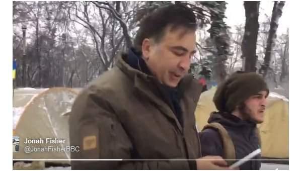 Саакашвили нагрубил иностранному журналисту