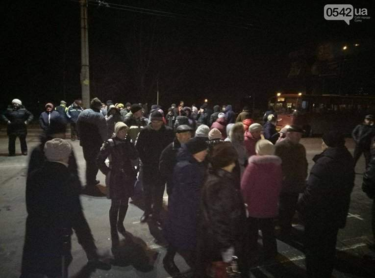 В Сумах жители устроили протест из-за из отключения в их домах газоснабжения (Фото)