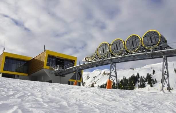 На швейцарском горнолыжном курорте заработал самый быстрый фуникулер (фото)
