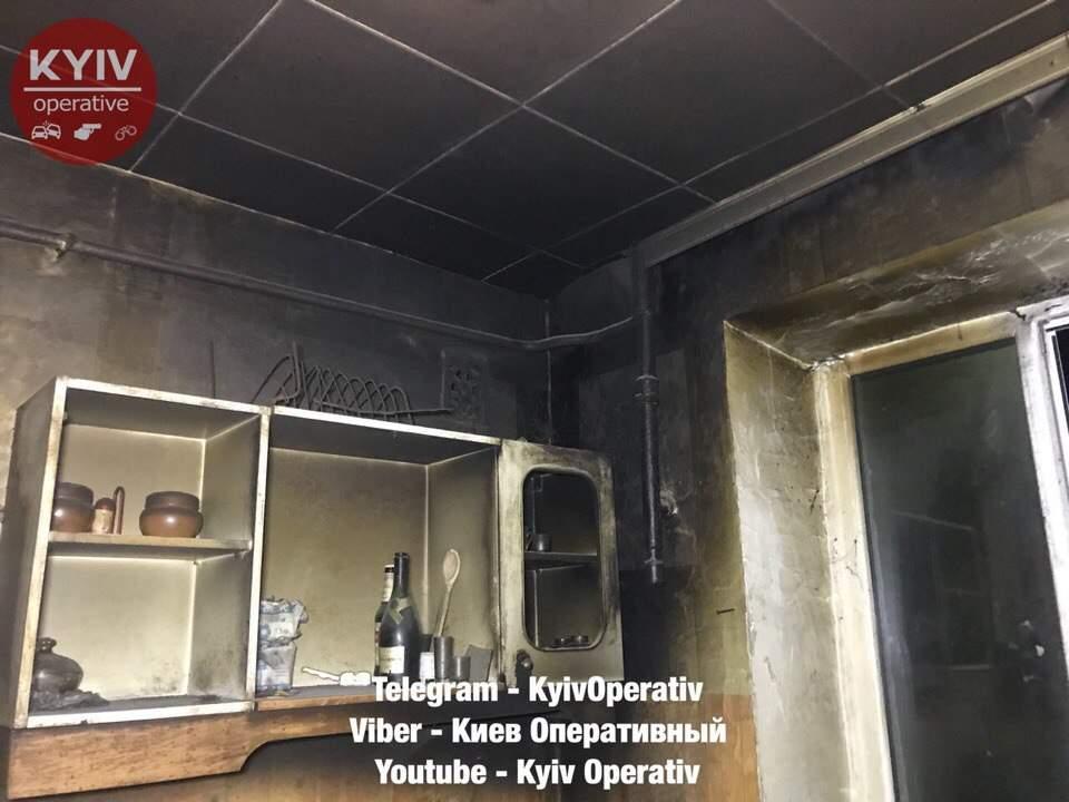 В столице психически нездоровый мужчина чуть не спалил себя и соседей (Фото)