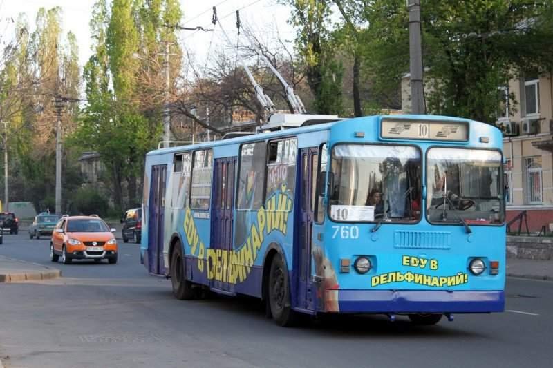 В Одессе едва не сгорел троллейбус (Видео)