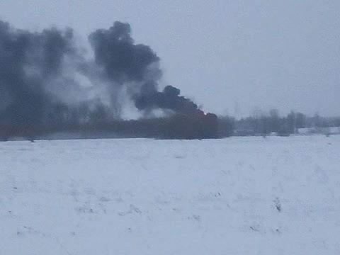 На Киевщине вблизи военного аэропорта произошло возгорание (фото)