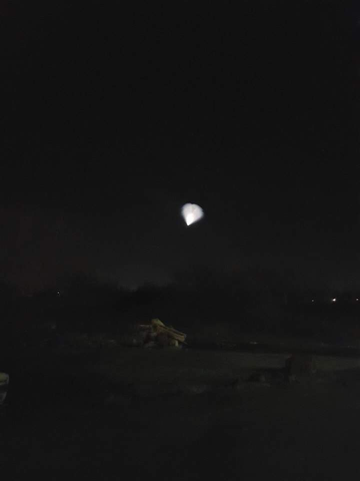 В небе над Львовом заметили необычное световое явление (фото)