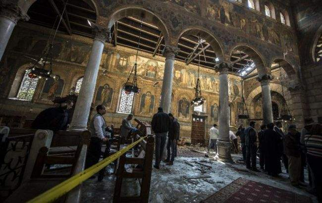 В Египте боевик устроил террористический акт в христианской церкви