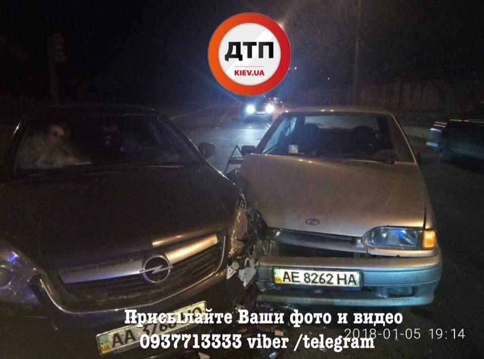 В столице столкнулось несколько автомобилей (Фото)