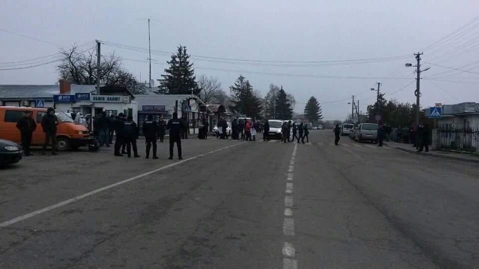 На западной границе Украины проходит протестная акция (Фото)