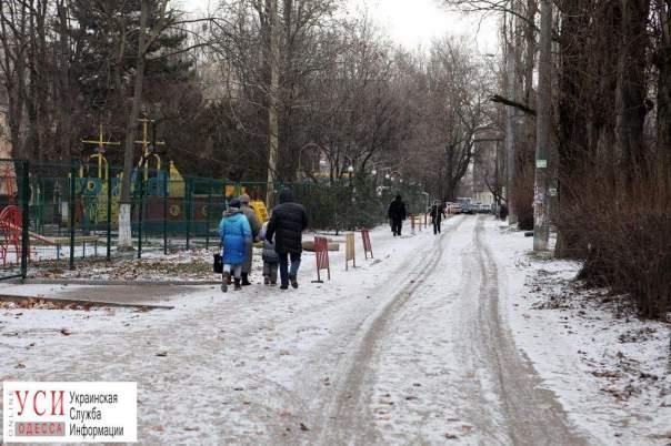 К середине зимы одесситы дождались снега и мороза (Фото)