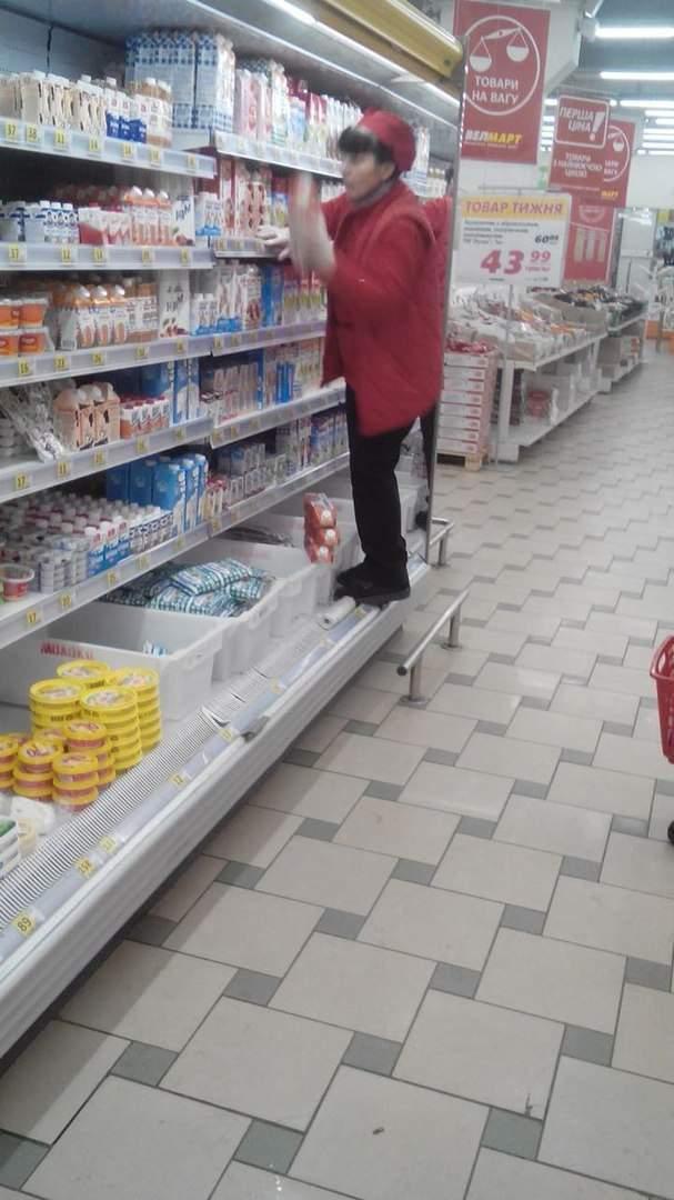 В Харькове в супермаркете