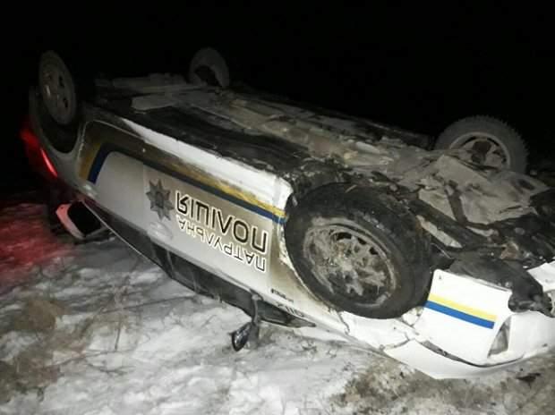 На Тернопольщине патрульные упустили нарушителя, попав в аварию (Фото)