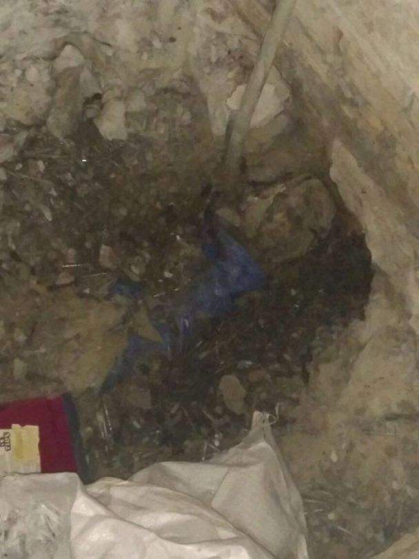 В столице убийца залил тело своей жертвы бетоном (Фото)