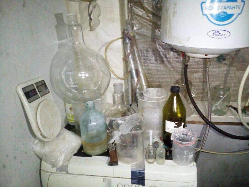 В Киевской области обнаружена подпольная нарколаборатория (Фото)