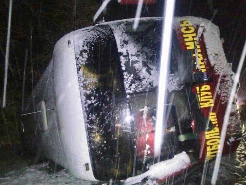 Во Львовской области перевернулся автобус с футбольной командой