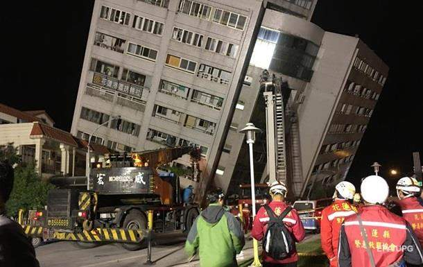 На Тайване, в результате землетрясения, погибли два человека, еще  188 пострадали