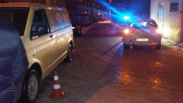 Во Львове очень пьяный водитель устроил ДТП