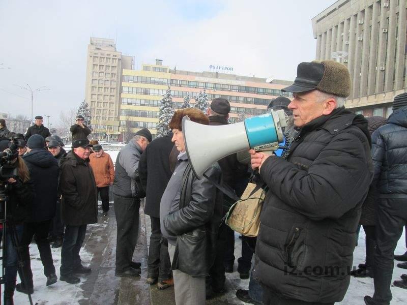 В Запорожье вышли на акцию протеста военные пенсионеры (Фото)