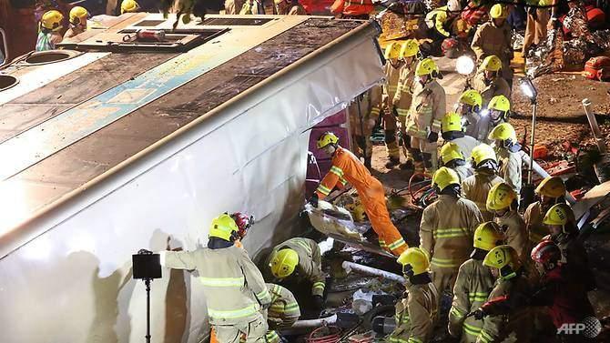 В Гонконге в сокрушительном ДТП погибли 19 человек (видео)